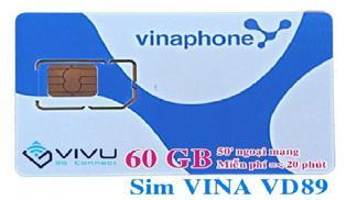Sim 3G Vinaphone ViVu khuyến mãi Data khủng 54Gb/năm